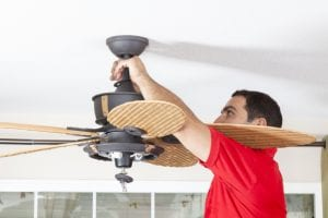 electrician perform your ceiling fan installation