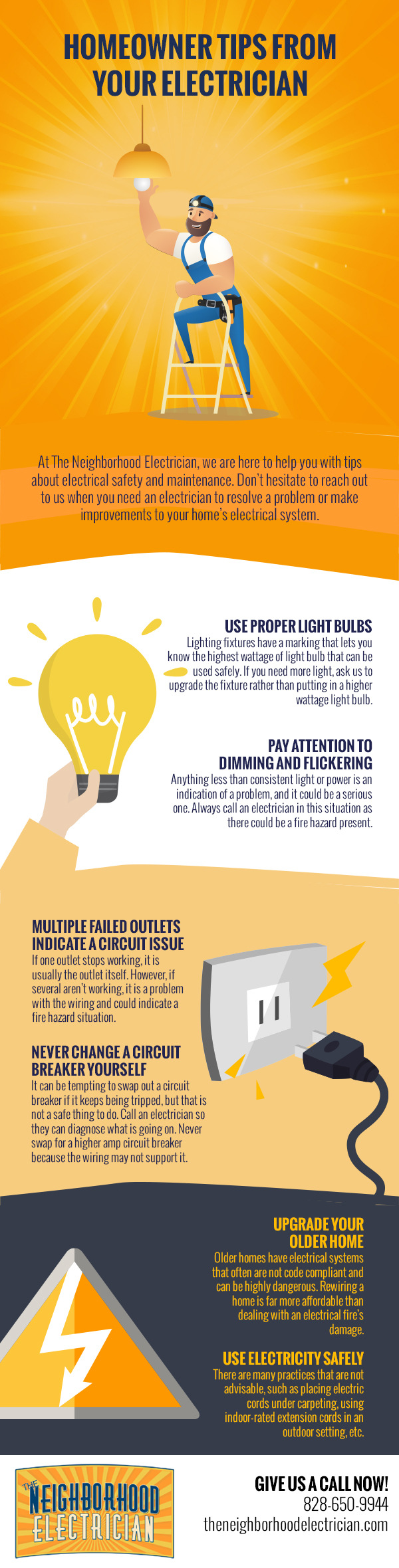 Homeowner Tips from Your Electrician [infographic]
